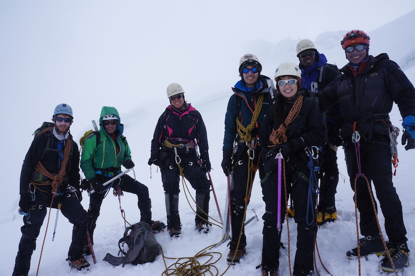 Summit-day, didn't make it to the summit, but we lead the way up in our rope teams. Felt amazing.